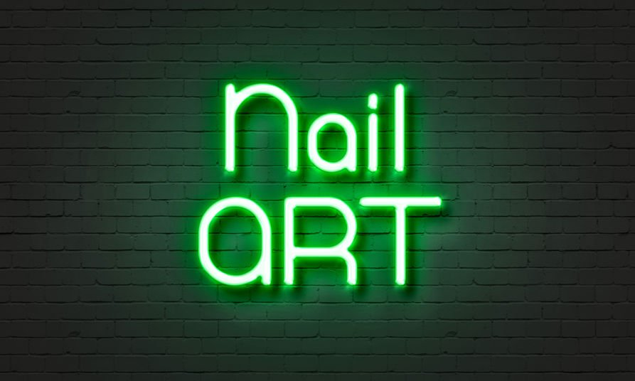 Nail salon business sign advertising