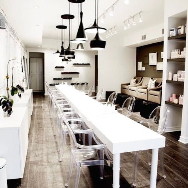 Acrylic Furniture in Nail Salon Design
