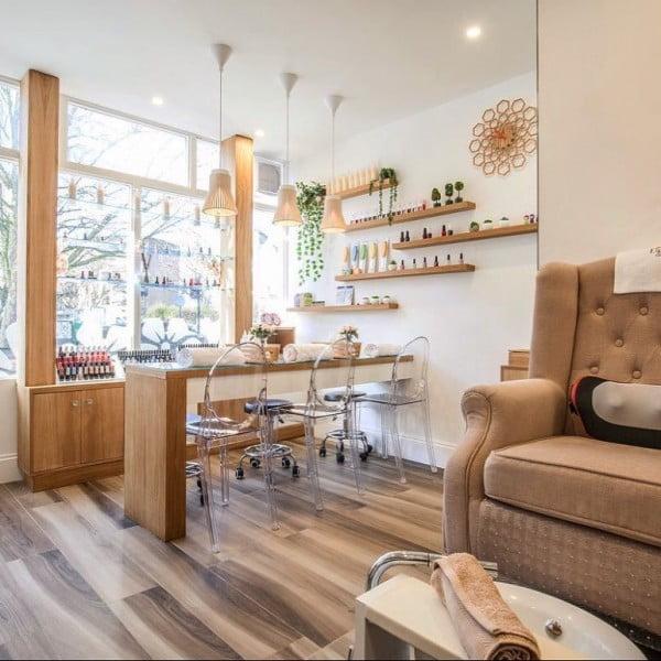 More Natural Wood in Salon Design