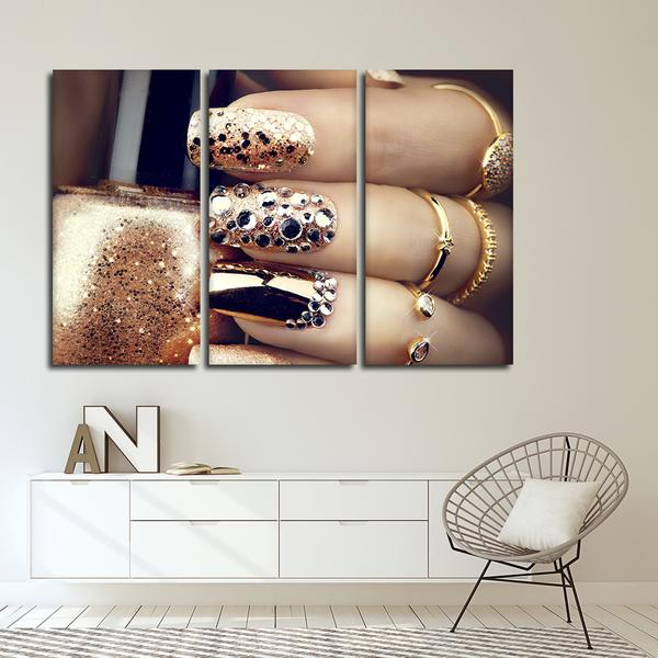 Multi Panel Nails Wall Art