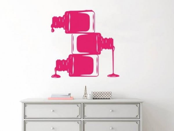 Nail Polish Wall Sticker