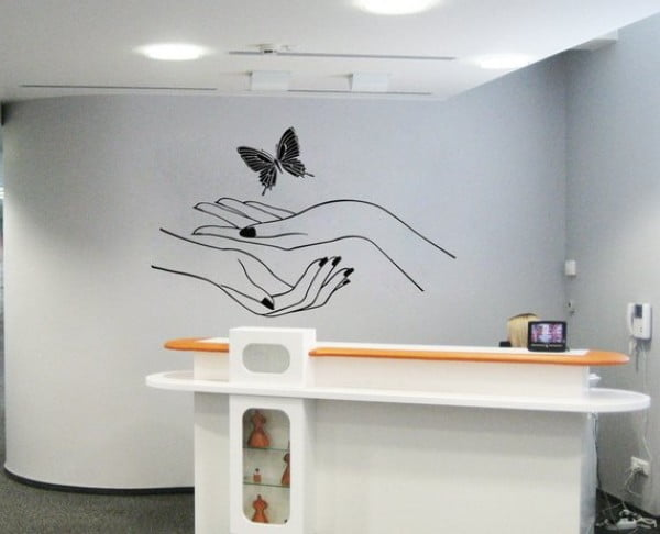 Butterfly Hands Wall Vinyl Sticker