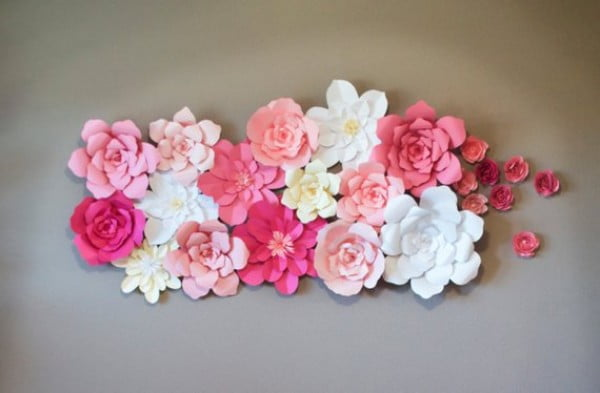Floral Art for Nail Salon Wall Decor
