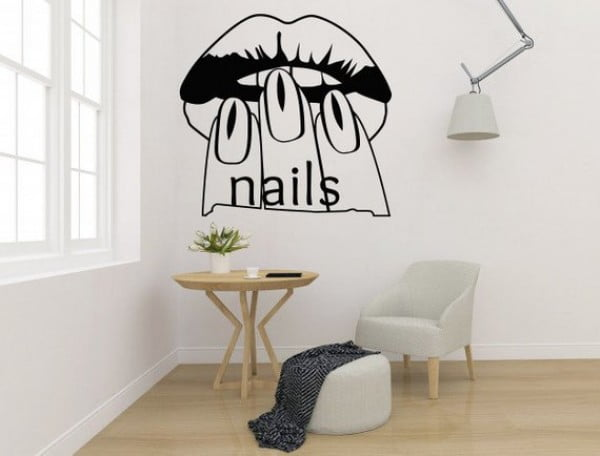Lips and Nails Wall Sticker